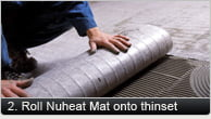 Roll Nuheat Nat Onto Thinset