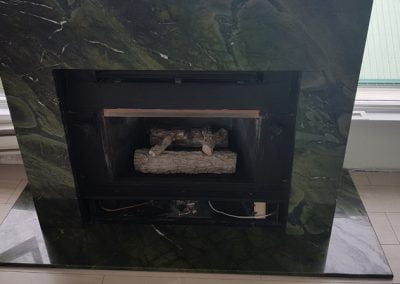 Custom Granite Fireplace